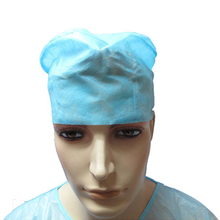 Disposable Nonwoven Operating room doctor cap with elastic